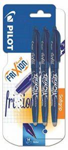 Pilot FriXion Ball Lot de 3 stylos rollers à encre gel effaçable (Bleu) de la marque Pilot image 0 produit
