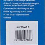 Pilot Frixion Point Lot de 5 Roller effaçable Pointe 0,7 mm Noir de la marque Pilot image 1 produit