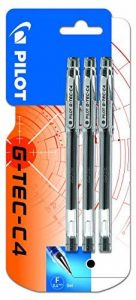 Pilot G-TEC C4 Blister de 3 Rollers Encre Gel Pointe Extra Fine Noir de la marque Pilot image 0 produit
