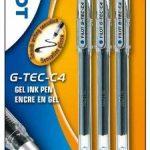 Pilot G-TEC C4 Blister de 3 Rollers Encre Gel Pointe Extra Fine Noir de la marque Pilot image 2 produit