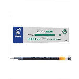 Pilot G207Lot stylo vert de rechange Recharge d'encre gel pour G2, Alphagel, G23, G2EX, gel-x, Begreen G-Knock, execugel & B2P Stylo à bille BLS-G2–7(Lot de 12) de la marque Pilot image 0 produit