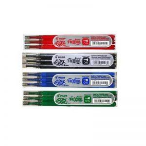 PILOT Lot de 4 sets de 3 recharges Frixion Point Noir, Bleu, Rouge et Vert de la marque Pilot image 0 produit