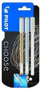 Pilot Pen Choose Lot de 3 Stylo gel Or/argent/blanc de la marque Pilot image 0 produit