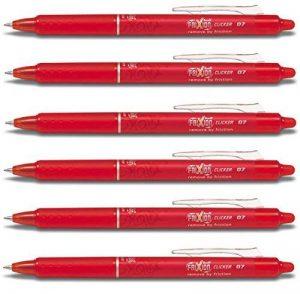 Pilot-Rouge-Frixion Clicker-Roller effaçable rétractable-Fine pour stylos plume Pointe 0,7 mm-Trait 0,35 mm-BLRT-FR7)-(Lot de 6) de la marque Pilot image 0 produit