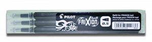 Pilot Stylo 0.5mm Frixion Recharge pour Frixion Stylo à bille effaçable - Noir (Lot de 3) de la marque Pilot image 0 produit