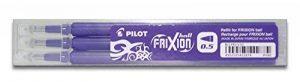 Pilot Stylo 0.5mm Frixion Recharge pour Frixion Stylo à bille effaçable - Violet (Lot de 3) de la marque Pilot image 0 produit
