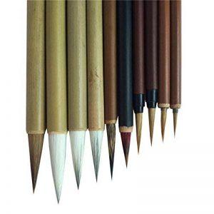 Pinceaux professionnels de la Chine pour la calligraphie et la peinture avec 10 ensembles de la marque diandiandidi image 0 produit