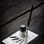 Plume composée d'une tige en bois faite main de la marque Artisome avec de l'encre et six pointes PA-18 de la marque Hethrone image 4 produit