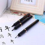 Pointe Feutre Coffret de Stylo de calligraphie chinoise, 3pcs Noir Brosse stylos d'écriture Dessin Craft pour enfants adultes de la marque KOONARD image 1 produit