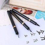 Pointe Feutre Coffret de Stylo de calligraphie chinoise, 3pcs Noir Brosse stylos d'écriture Dessin Craft pour enfants adultes de la marque KOONARD image 2 produit