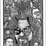 Poster The Big Lebowski Dude–inspiré d'art print Poster–Stylo et encre original dessin à la main détaillée de la marque Posterography image 1 produit