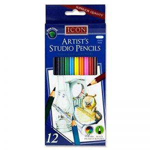 Premier papeterie B4272212Icon Artist's Studio Crayons de couleur (lot de 12) de la marque Premier Stationery image 0 produit
