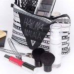 PREMYO Trousse à maquillage Hakuna Matata Design Petite trousse toilette à fermeture éclair Vanity case souple femme idéale pour cosmétiques et en voyage Trousse scolaire Trousse à crayon et à stylo de la marque PREMYO image 3 produit