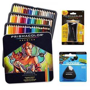 Prismacolor Kit de 72crayons de couleur avec gomme triangulaire et taille-crayon de la marque Prismacolor image 0 produit