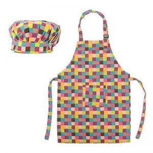 (Prix/100Jeux) opromo coloré Toile Coton Tablier et chapeau pour enfant, fêtes de la marque Opromo image 0 produit