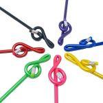 Punk Musique Clé de Sol Bent crayon crayon G Clef de nombreuses couleurs Lot de 7 de la marque PUNK image 1 produit