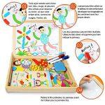 Puzzles en Bois Magnétiques | Puzzle 100 Pièces avec Tableau Double Face | InnooBaby | Planche à Dessin avec Stylos Colorés et Craies | Jouet et Cadeau Educatif pour Enfants 3 Ans et Plus de la marque Innoo-Tech image 2 produit