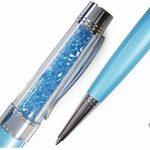 Qualité Stylo à bille avec cristaux Swarovski - 1 recharge et pour stylo inclus - BLEU CLAIR de la marque NEO+ image 1 produit