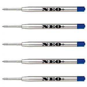 Qualité stylo à bille gel recharges pour stylo en métal, bon marché mais longue durée, 5 pièces, pointe moyenne, encre Noir. Pour stylo à bille Parker. G2 style Recharge fabriqué en Allemagne 5 x BLEU GEL INK de la marque NEO image 0 produit