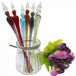 RayLineDo® Hot vente faite à la main Verre de Cristal Dip Stylo en verre Porte-plume de calligraphie en verre Signature Stylo Business Cadeau Jaune-vert de la marque RayLineDo image 5 produit