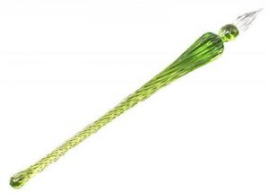 RayLineDo® Hot vente faite à la main Verre de Cristal Dip Stylo en verre Porte-plume de calligraphie en verre Signature Stylo Business Cadeau Jaune-vert de la marque RayLineDo image 0 produit