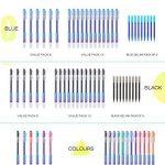 Recharge Stylo Gomme Pointe 0.7 mm – Recharge Stylo Bille Bleu Pack de 9 - Ezigoo de la marque Ezigoo image 6 produit