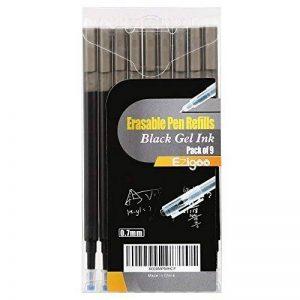 Recharge Stylo Gomme Pointe 0.7 mm – Recharge Stylo Bille Noir Pack de 9 - Ezigoo de la marque Ezigoo image 0 produit