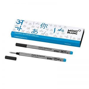 Recharges pour stylo roller Montblanc, bleu UNICEF 116221/Recharges pour stylo roller et feutre fin Montblanc, taille M/2x Recharges Rollerball M Montblanc de la marque Montblanc image 0 produit