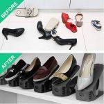 Réglable à chaussures, pour empiler les chaussures réglable Organiseur de économie d'espace à chaussures support Rack koobea (8 paires de chaussures) (Black) de la marque image 4 produit