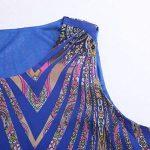 Robe en mousseline de soie plumes paillettes impression sans manches décontracté plage longues robes avec ceinture GreatestPAK de la marque GreatestPAK_Robes image 3 produit