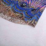Robe en mousseline de soie plumes paillettes impression sans manches décontracté plage longues robes avec ceinture GreatestPAK de la marque GreatestPAK_Robes image 4 produit
