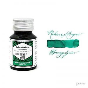 Rohrer & Klingner *depuis 1892* Flacon d'encre - Verte émeraude - 50ml de la marque Rohrer&Klingner image 0 produit