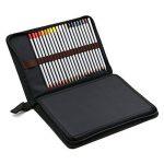 Sac Crayons de Couleur Sac à Crayon de Toile Trousse Crayon de Couleur Rangement Crayon de Couleur à 5 Couches Emplacement de 72 Crayons (Noir) de la marque Lance image 3 produit