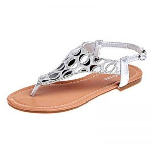 Sandales Romaines, GreatestPAK Femmes Flats Tongs Crystal Mesdames Chaussures Plage Bohème Sandales de la marque GreatestPAK_Chaussures image 0 produit