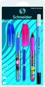 Schneider 74370 Set d'écriture avec 1 stylo à plume + 1 roller + 1 effaceur d'encre double pointe de la marque Schneider image 0 produit