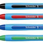 Schneider 75020 Blister de 4 stylos à bille Large Noir/Rouge/Bleu/Vert de la marque Schneider image 2 produit