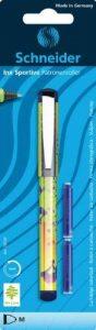 Schneider 78739 Blister avec 1 roller avec grip caoutchouté + 2 cartouches d'encre bleu royal de la marque Schneider image 0 produit