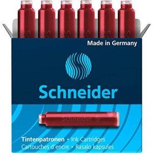 SCHNEIDER Lot de 5 Boîtes 6 Cartouches d'encre rouge de la marque Schneider image 0 produit