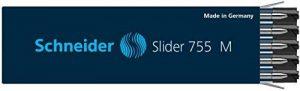 Schneider SLIDER 755 Recharge stylo bille Format G2/ViscoGlide® M/noir/permanent Lot de 10 de la marque Schneider image 0 produit