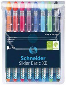 Schneider Slider Basic Stylo-bille non rétractable Couleurs Assortis Lot de 8 de la marque Schneider image 0 produit