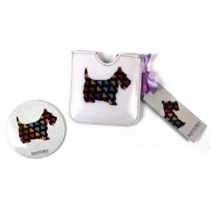 Scottie Dogs Compact Pocket Handbag Mirror de la marque Gorjuss image 0 produit