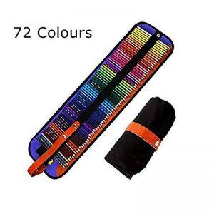 SCP072 Ensemble ultime de 72 crayons de couleurs Meloive. Les meilleurs crayons de couleurs pour les artistes, les étudiants, les bandes dessinées, les illustrations, la décoration d'intérieur, l'art et le coloriage pour adultes ainsi que cadeau de noël. image 0 produit