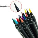 Set de stylos pinceaux Magicdo aquarelle, 18 couleurs stylo marqueur double pointe, stylo à colorier à base d'eau, pinceau avec pointe fine pour la coloration, croquis et peinture de la marque Magicdo® image 3 produit