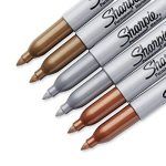 Sharpie Marqueurs Permanents, Pointe Fine, Assortiment de Couleurs Métalliques, Lot de6 de la marque Sharpie image 3 produit