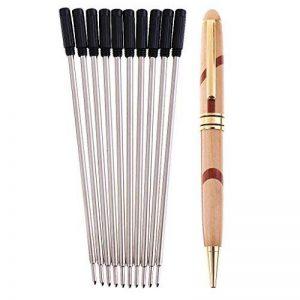 Sharplace Stylo Bille Vintage en Bambou + 10 Pièces Recharges Pointe Fine 0.7mm de la marque Sharplace image 0 produit