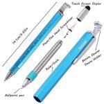 Shulaner 7 en 1 Outil de Tech Stylo avec règle, décapsuleur, support de téléphone, stylo à bille, Stylet et 2 tournevis, outil multifonction pour homme coffret cadeau de père bleu de la marque Shulaner image 2 produit