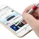 Shulaner 7 en 1 Outil de Tech Stylo avec règle, décapsuleur, support de téléphone, stylo à bille, Stylet et 2 tournevis, outil multifonction pour homme coffret cadeau de père, rouge de la marque Shulaner image 3 produit
