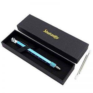 Shulaner 7 en 1 Outil de Tech Stylo avec règle, décapsuleur, support de téléphone, stylo à bille, Stylet et 2 tournevis, outil multifonction pour homme coffret cadeau de père bleu de la marque Shulaner image 0 produit