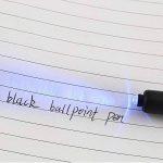 Shulaner Tech Outil 8 en 1 stylo à bille torche à lumière noire, règle, stylo à encre invisible, stylo à bille, stylet et mini tournevis plat et cruciforme pour homme Coffret cadeau Noir (1 pièces) de la marque Shulaner image 1 produit