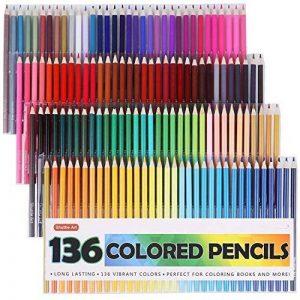 Shuttle Art 136Lot de crayons de couleur, crayons de couleur pour des livres de coloriage pour adulte Art marqueurs stylos de la marque Shuttle Art image 0 produit